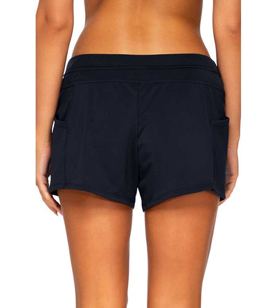 BLACK LAGUNA SWIM SHORT SUNSETS ESCAPE 345BBLCK