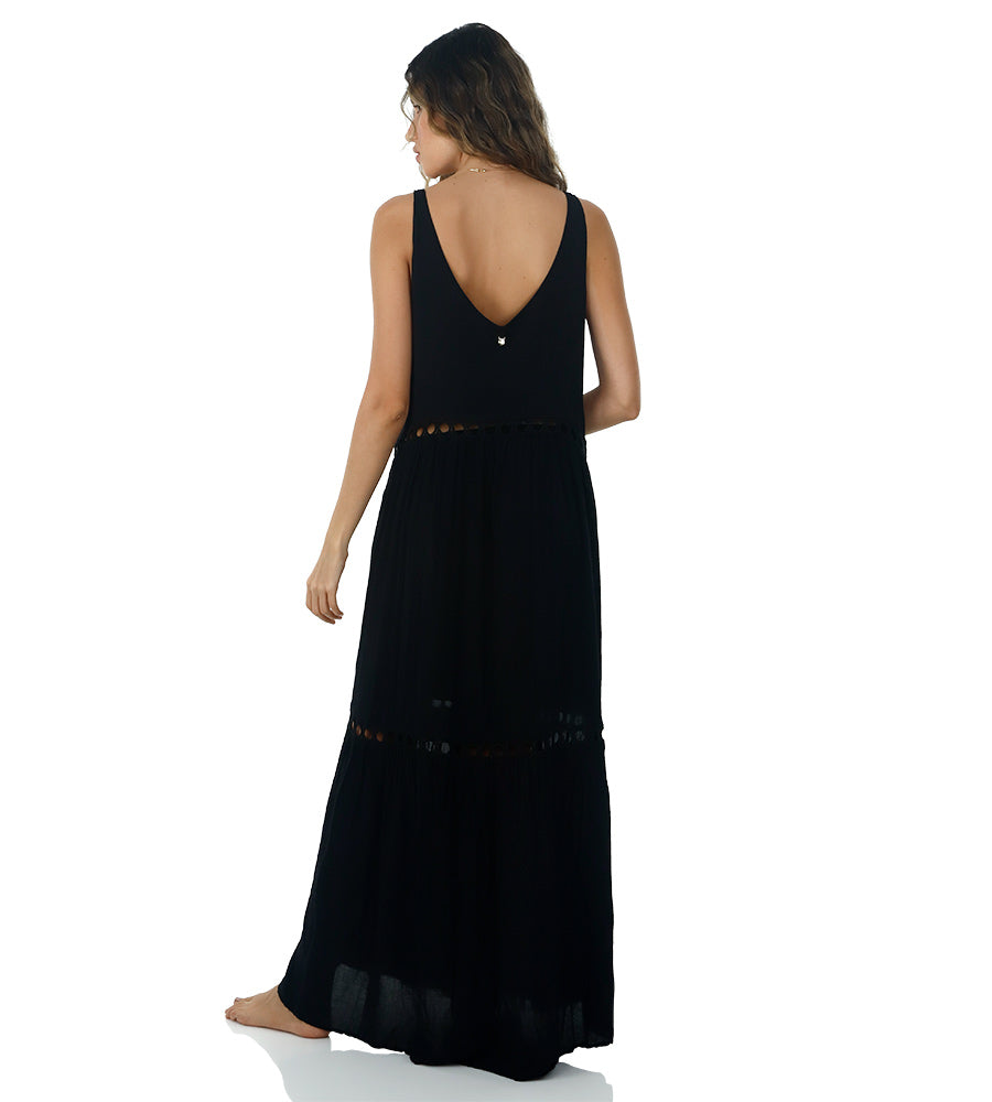 BLACK LOVEY DOVEY MAXI DRESS BY MALAI