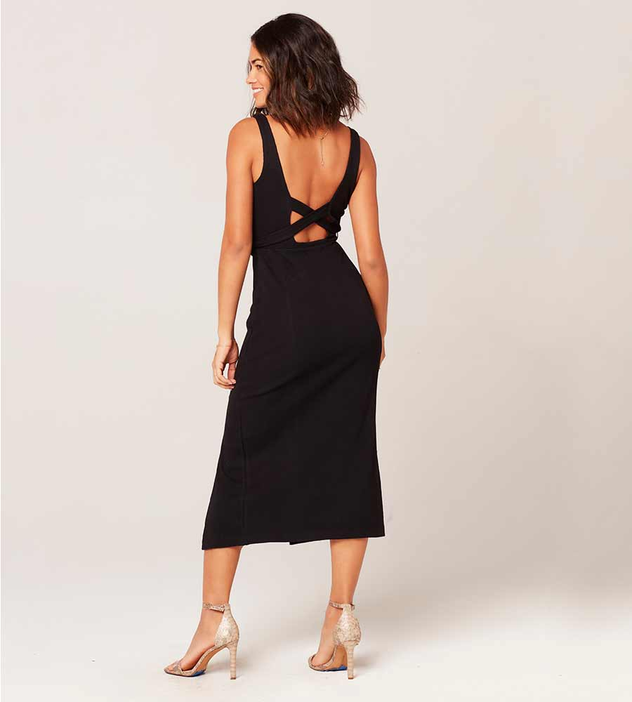 BLACK PALM BEACH DRESS LSPACE PABDR20-BLK