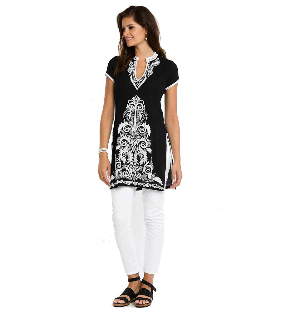 BLACK ROOPA LONG TUNIC SULU ROOPA5