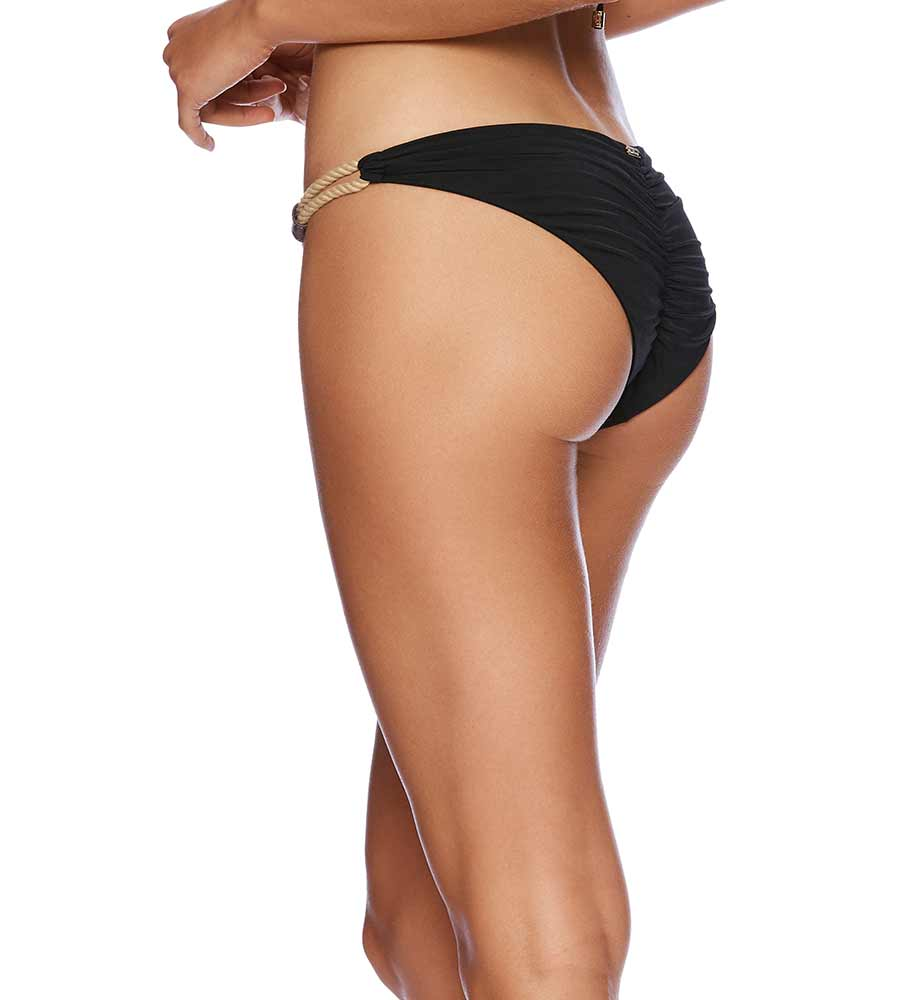 BLACK SAHARA BALIR SKIMPY BOTTOM BEACH BUNNY B19107B1-BLCK