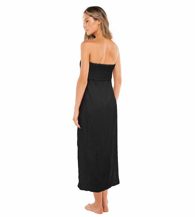 BLACK TESS STRAPLESS DRESS VIX 433-406-001