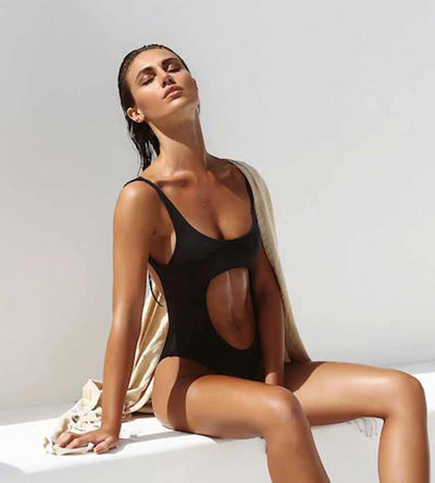 BLACK THAT SPORTY VIBE ONE PIECE MONICA HANSEN MHB-54B