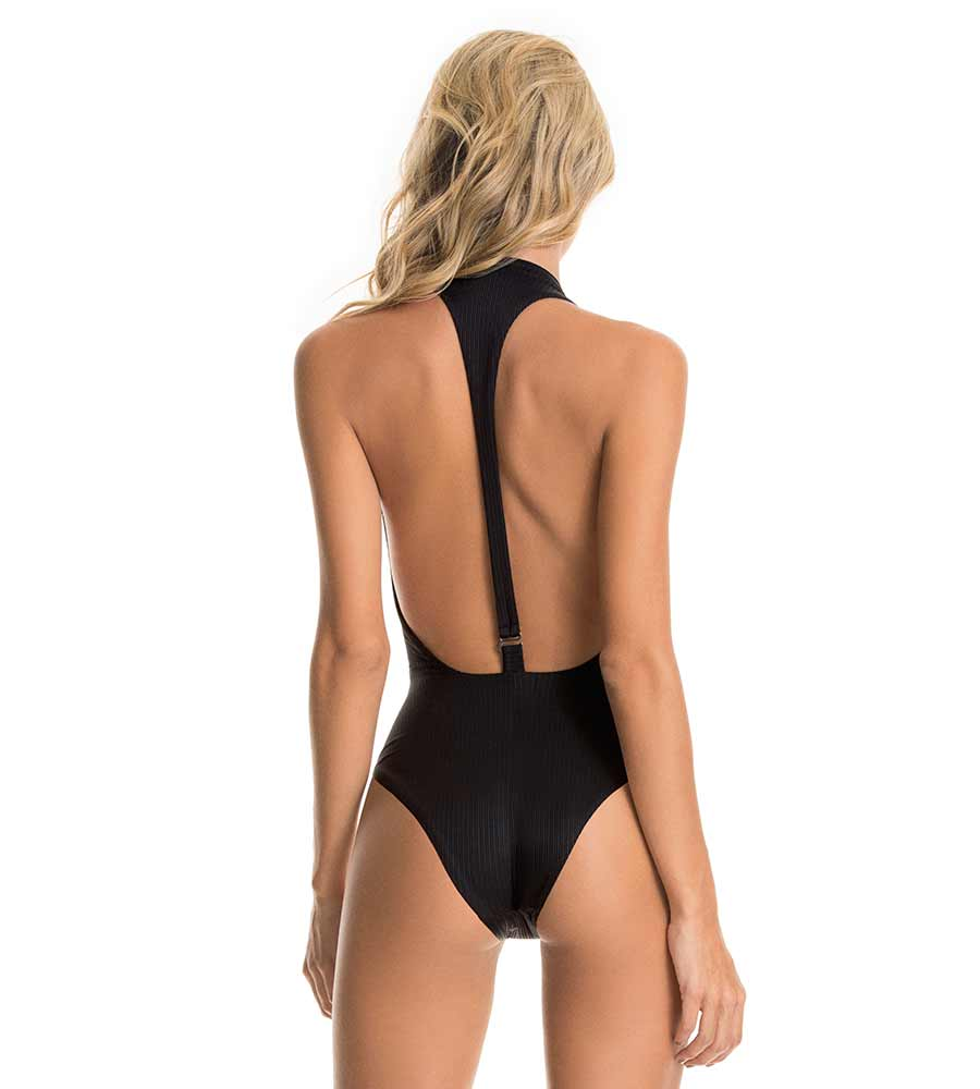 BLACK ONYX TIKI PLUNGE ONE PIECE BY MAAJI