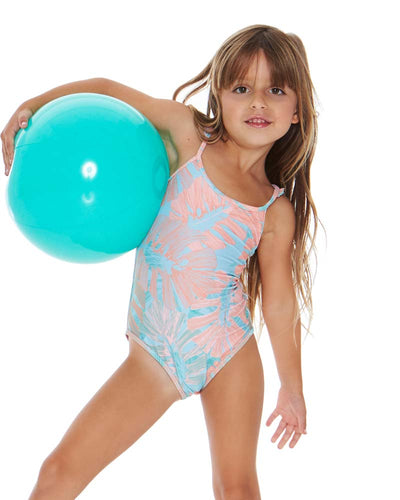 BUNGALOW PALM LITTLE L* KATIE ONE PIECE LSPACE BLKAM18-BGP