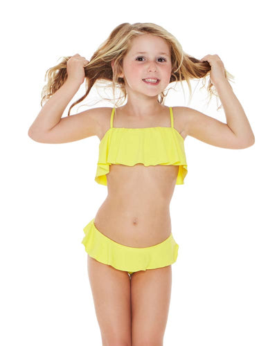 CANARY YELLOW LITTLE L LUCY GIRLS BIKINI LSPACE BLLUS18-CAY