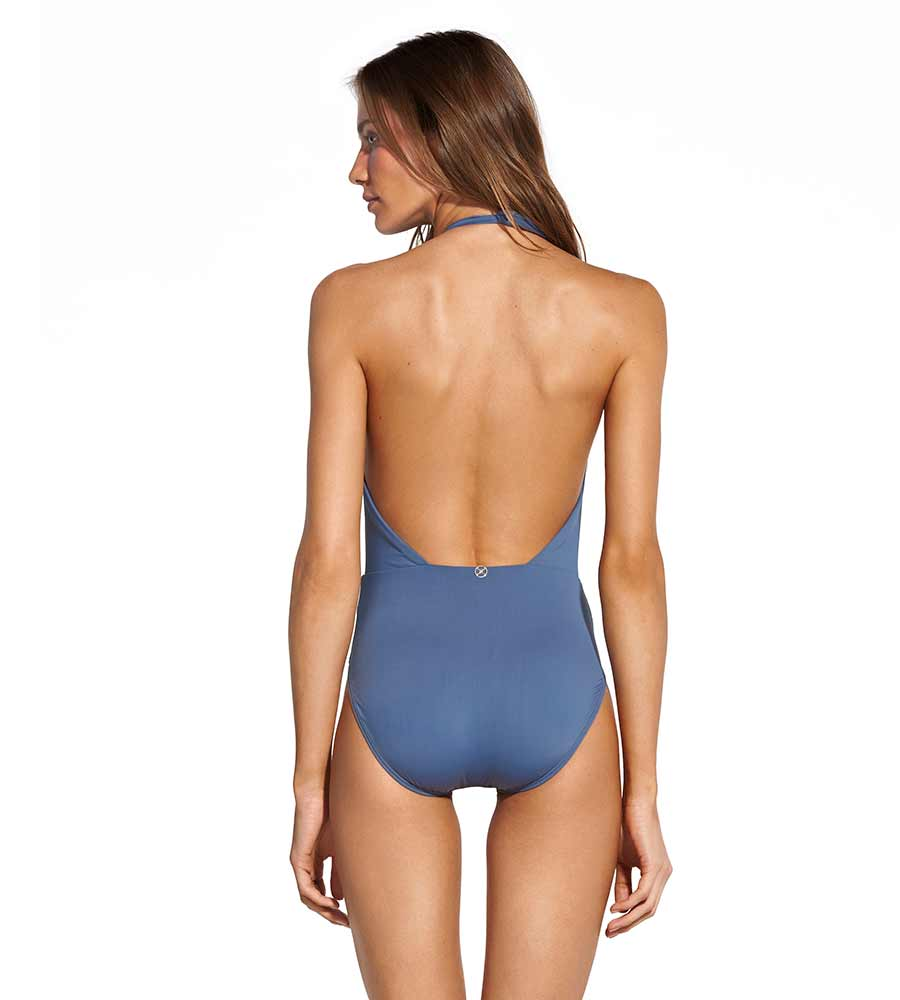 BLUE GREY DIANE KNOT ONE PIECE BY VIX
