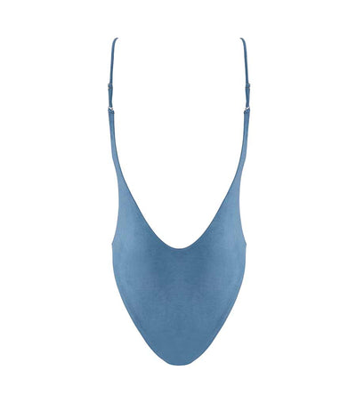 BLUE SUEDE BABE WATCH ADJUSTABLE STRAP ONE PIECE
