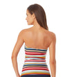 BOARDWALK STRIPE TWIST FRONT SHIRRED BANDEAU-KINI ANNE COLE 21MT25006-MULT