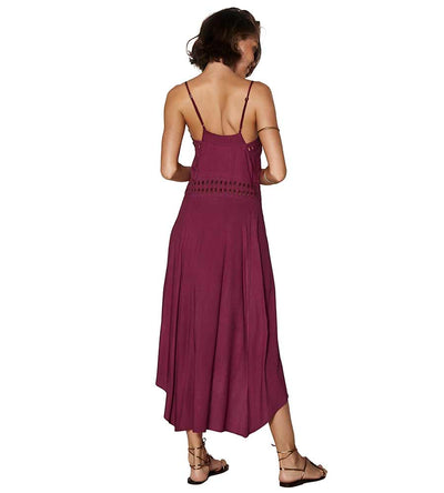BURGUNDY DEANA LONG DRESS VIX 432-407-170