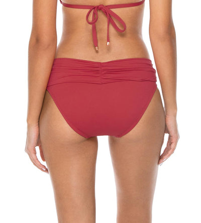 RED ROSE ALOHA BANDED BOTTOM SWIM SYSTEMS C247RERO