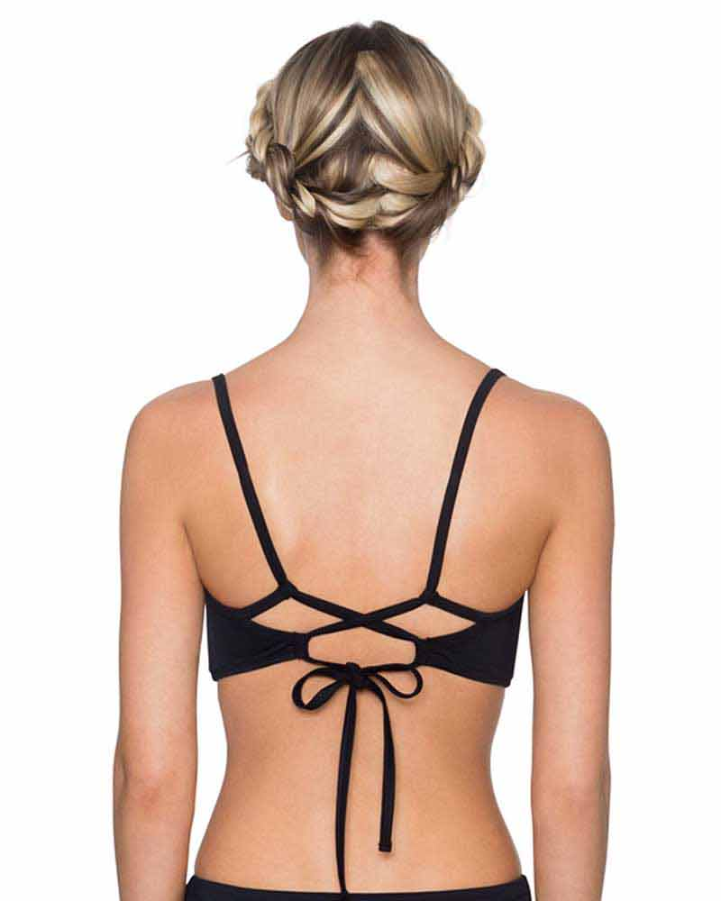 ONYX BALBOA BRALETTE TOP BY SWIM SYSTEMS
