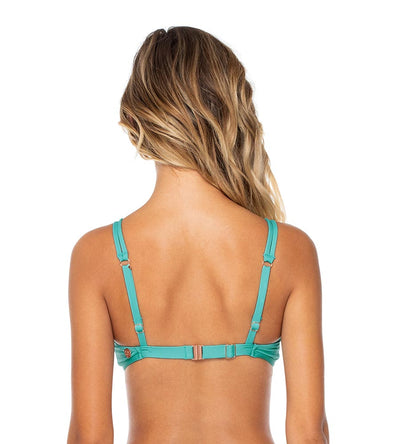 AQUAMARINE TRELLIS BRALETTE TOP SWIM SYSTEMS C621AQUA