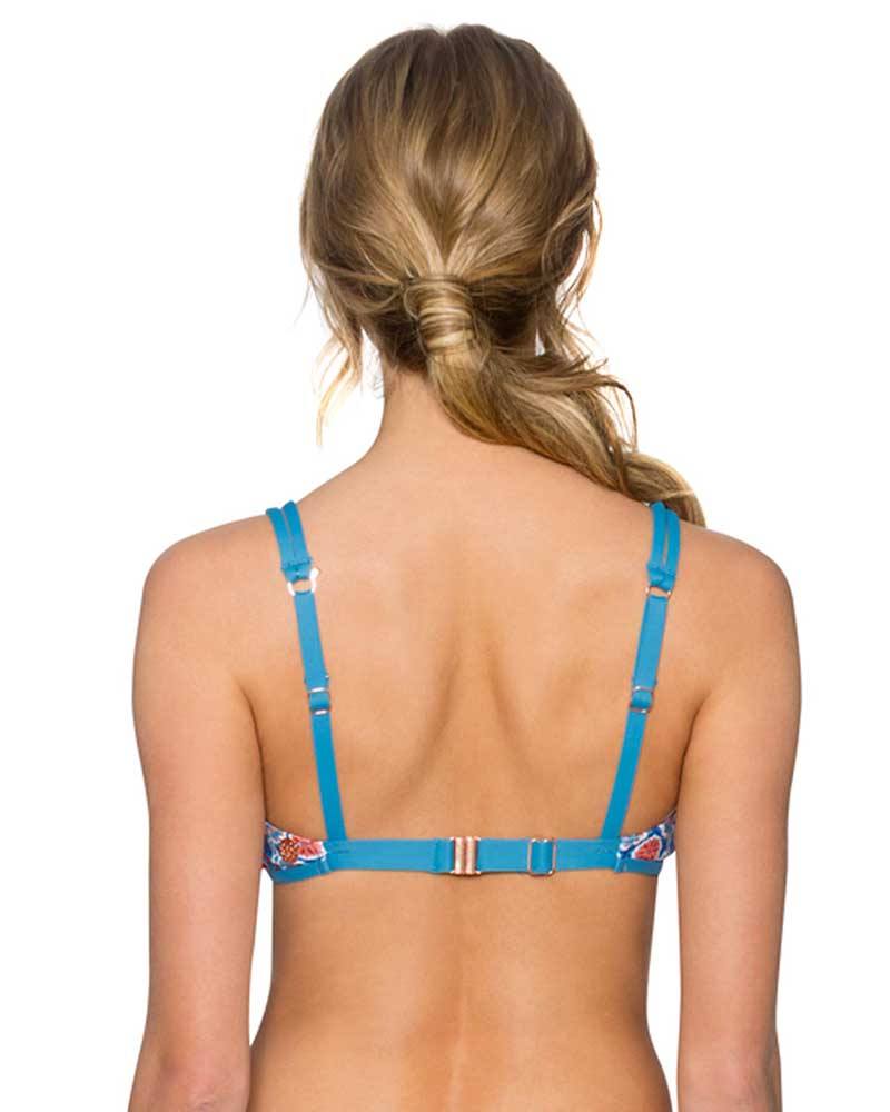 WILDFLOWER TRELLIS BRALETTE TOP SWIM SYSTEMS C621WILD