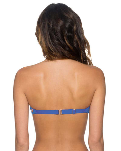 BLUE VIOLET TRELLIS BANDEAU TOP SWIM SYSTEMS C624BLVI
