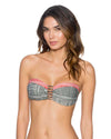 SUMMER SAFARI TRELLIS BANDEAU TOP SWIM SYSTEMS C624SUSA