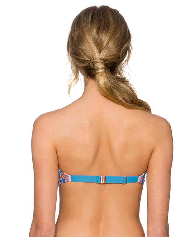 WILDFLOWER TRELLIS BANDEAU TOP SWIM SYSTEMS C624WILD