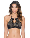 HONEY LACE MIRANDA HI-NECK TOP SWIM SYSTEMS C628HOLA