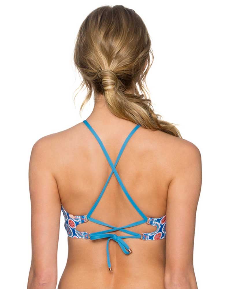WILDFLOWER MIRANDA HI-NECK TOP SWIM SYSTEMS C628WILD