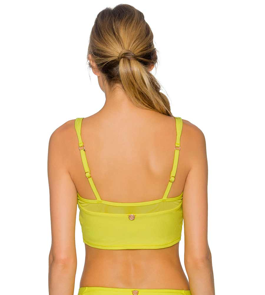 LEMON DROP CAPRI CROPPED TANK TOP BY SWIM SYSTEMS