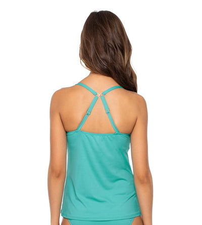 AQUAMARINE CROSSROADS TANKINI TOP SWIM SYSTEMS C792AQUA