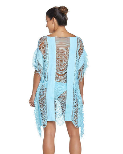 CABANA BLUE MONIQUE COVER UP PILYQ CAB-427T