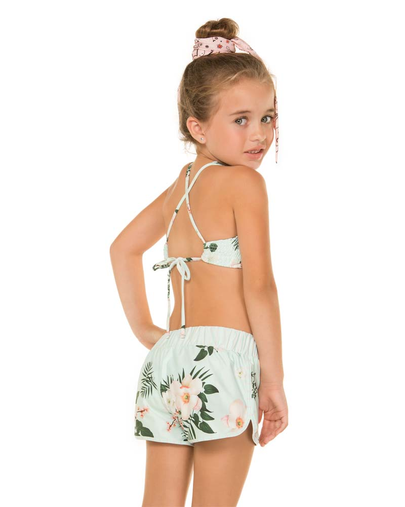 CAMELLIA APRIL GIRLS SHORTS BY AGUA BENDITA