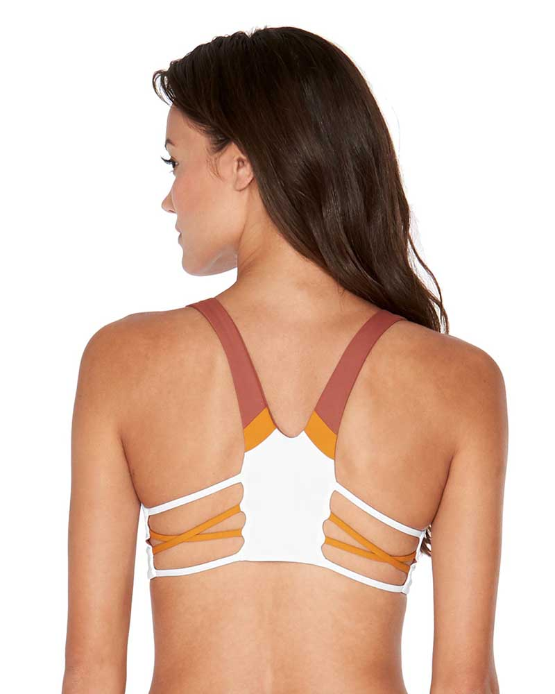 d66265cd0c5 COLOR BLOCK WHITE RYLIE TOP BY LSPACE - Kayokoko Swimwear USA