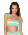 COLOR BLOCK ARUBA BLUE REBEL STRIPE TOP LSPACE CBRLT18-ARB