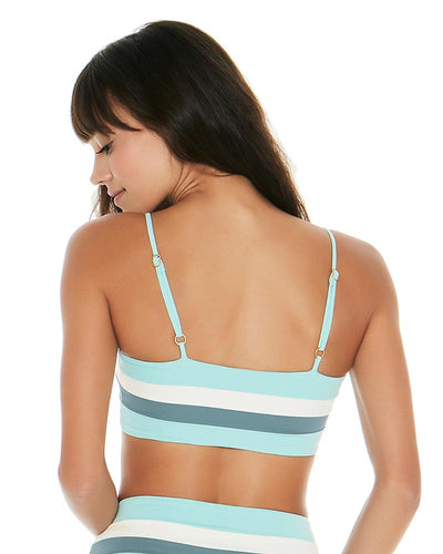 COLOR BLOCK LIGHT TURQ REBEL STRIPE TOP LSPACE CBRLT18-LIT