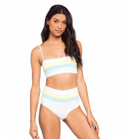 LEMONADE COLOR BLOCK REBEL STRIPE TOP LSPACE CBRLT18-WLL