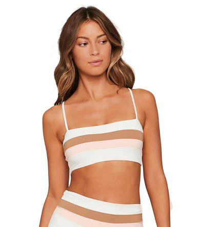 CREAM COLOR BLOCK REBEL STRIPE TOP LSPACE CBRLT18-CCC