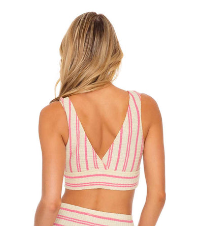 CHAMPAGNE POP ROSE BAND CROP TOP LULI FAMA L641L74-520