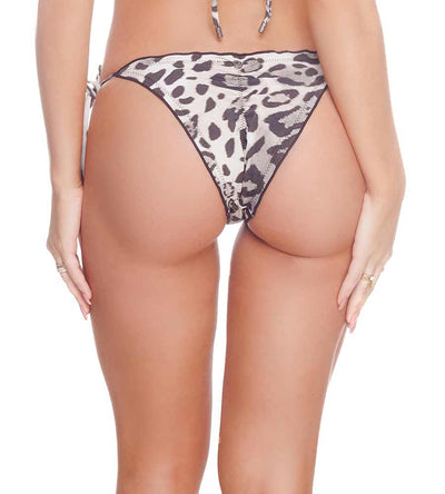 CHEETAH BLACK FROU FROU BIKINI BOTTOM DESPI 4824BF