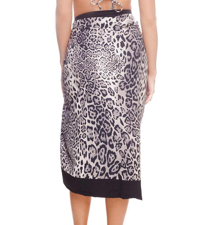CHEETAH BLACK SARONG DESPI 48104