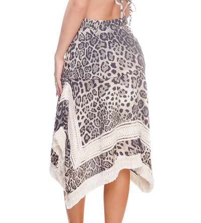 CHEETAH BLACK SQ SKIRT DESPI 48108