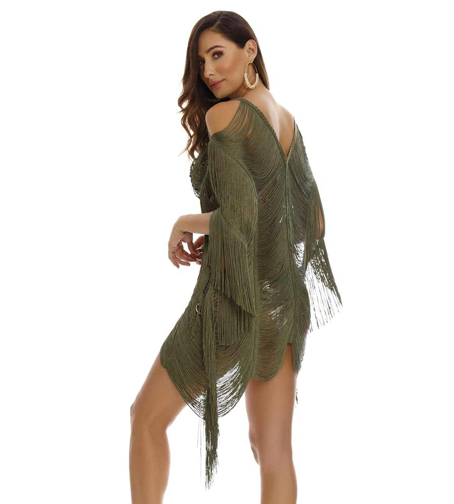 CHLOE SHORT FRINGE COVER UP BY MILONGA