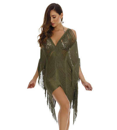 CHLOE SHORT FRINGE COVER UP MILONGA CHLC04