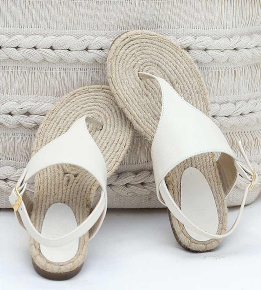 COCONUT MILK LEATHER BAR STRAP SANDALS TOUCHE 0S39001