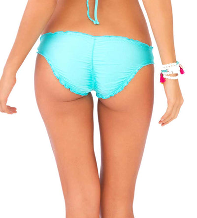 COSITA BUENA AQUAMARINE FULL RUCHED BOTTOM LULI FAMA L176521-411