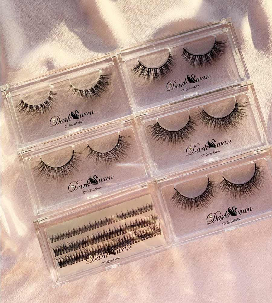 CRYSTAL LASH STORAGE WITH LASH HEAVEN COLLECTION DARK SWAN OF DENMARK AS-01