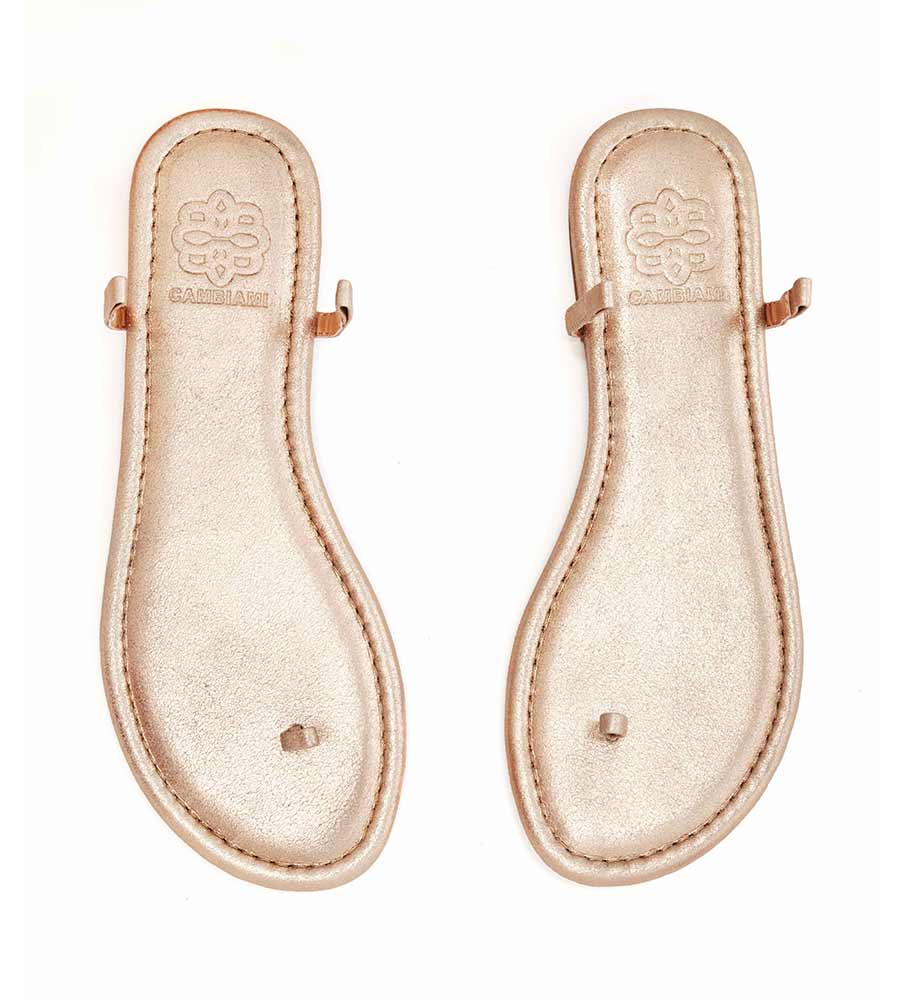 CHAMPAGNE SANDAL_ CHAMPAGNE NARROW STRAP CAMBIAMI CSCNS