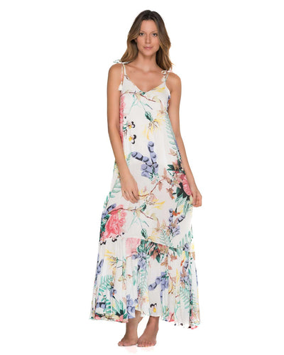 FLOWERY RUFFINO MAXI DRESS MALAI CU0236