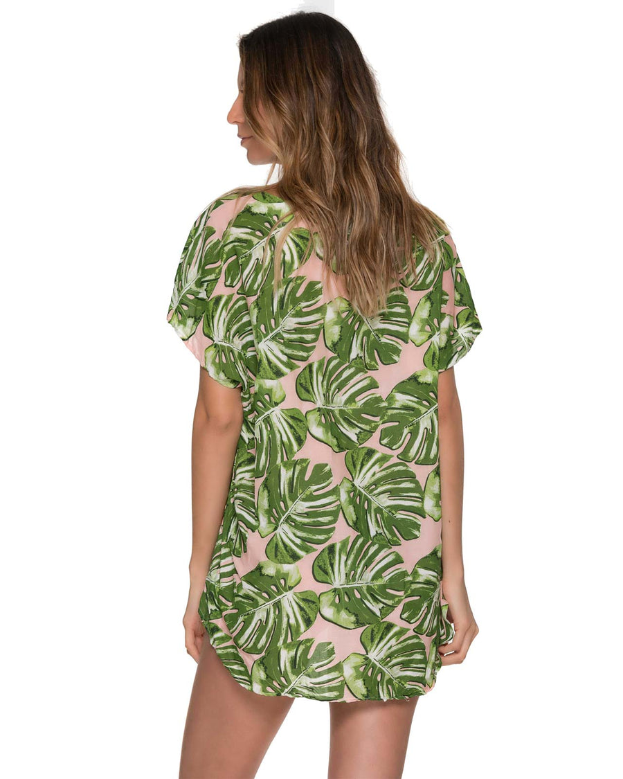MONSTERA DELIGHT TWISTER COVER UP MALAI CU0239