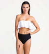DOMINO RUFFLE BANDEAU TOP TOUCHE 0B42001