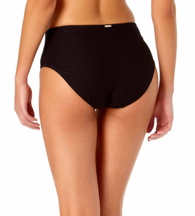 DREAM WEAVER BLACK MID-RISE BIKINI BOTTOM ANNE COLE 20MB34214-BLK