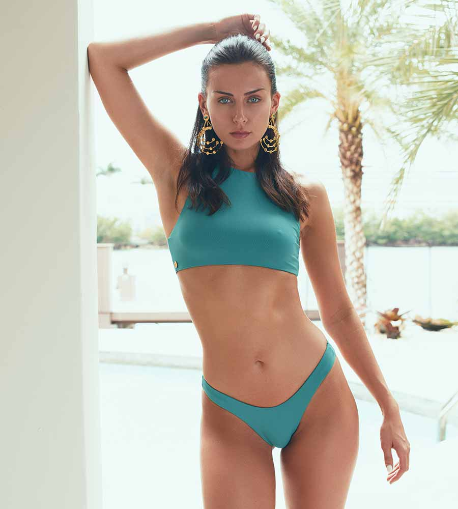 EMERALD STONE MARA BIKINI BOTTOM BY KAARI