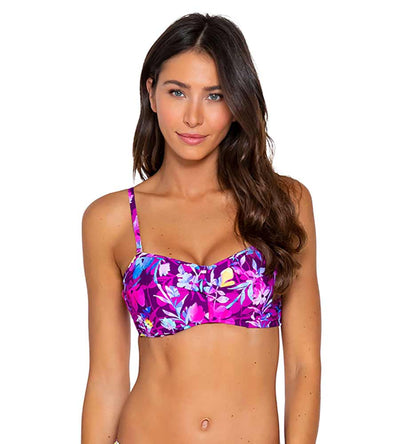 EVENING BLOOMS ICONIC TWIST BANDEAU TOP SUNSETS 55EVEBL