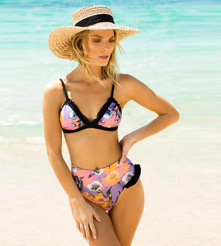 NEXT DESTINATION HIGH WAIST BIKINI BOTTOM ANCORA F199BHW