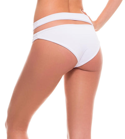 FOLIAGE WHITE WAISTBAND BIKINI BOTTOM MILONGA FOLL05